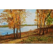 Autumn on the Meshchersky lake